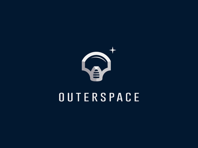 Outerspace space helmet war astronaut logo star dark outer
