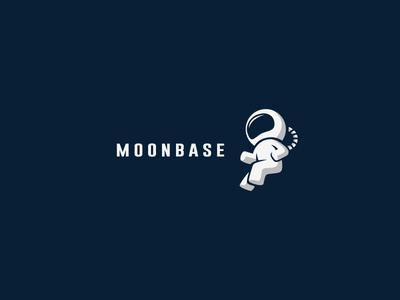 Moonbase moon space base logo astro astronaut cosmos travel star ship orbit earth