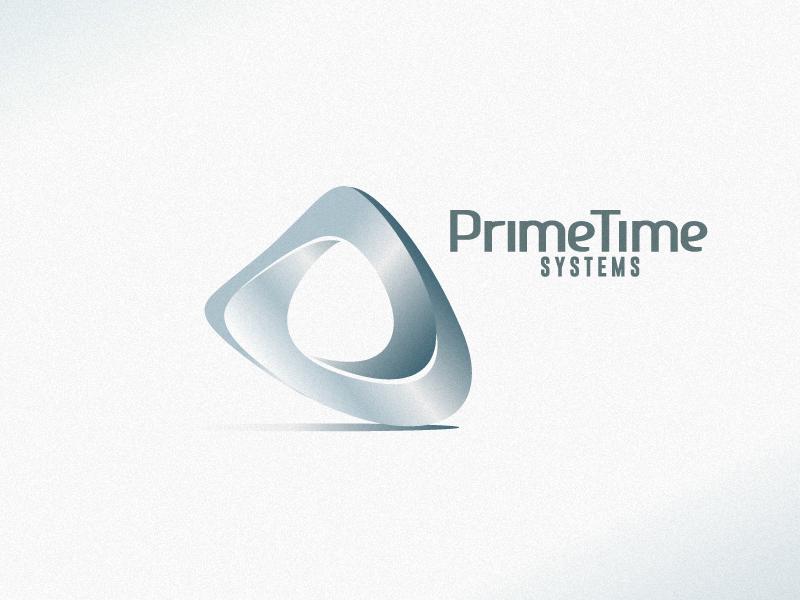 PrimeTime mobius shape logo silver