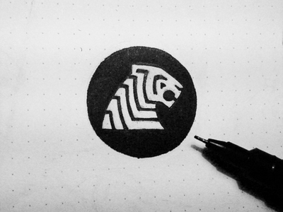 Tiger Circle Sketch