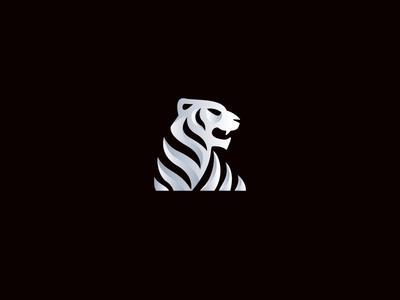 Tiger Vector tiger eye animal shadow jungle software logo symbol techy silver