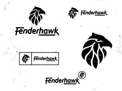 Fenderhawk hawk bird animal logo beak fender plate feather symbol
