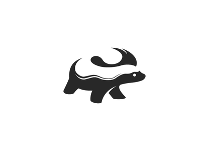 Honey Badger logo space negative animal badger honey