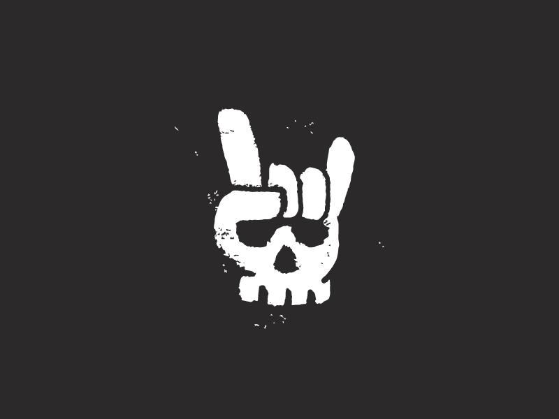 ! life funny glove finger death skull logo devil dark die hand