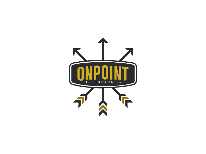 OnPoint  feather sharp logo emblem technologies army millitary target arrow