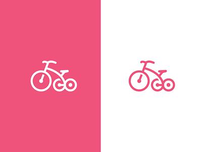 Tricycle sport wheel logomark mark children bike logo trike tricycle