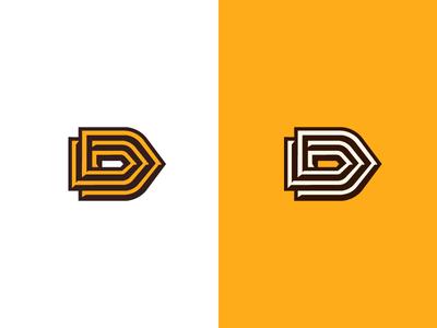 D speed bullet letterd logo monogram symbol letter d