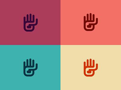 Hamsa colors logo eye hand hamsa