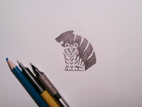 Tiger Shadow Sketch