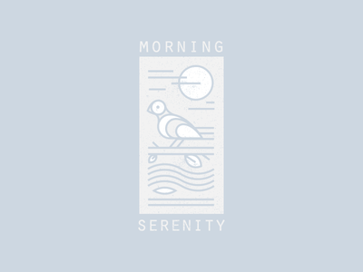 Morning Serenity poster nature illustration serenity peace bird morning