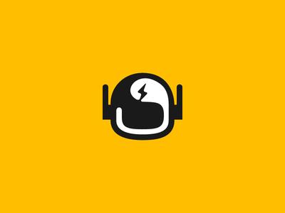 Thunderbot moto head shadow logo helmet robot bot thunder