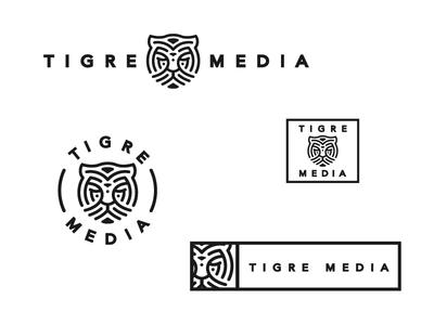 Tigre Media brand media lineout concepts logo animal tiger