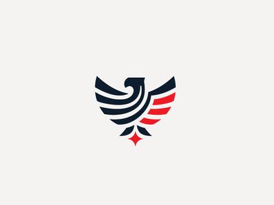 Eagle Flag wings logo america flag bird eagle