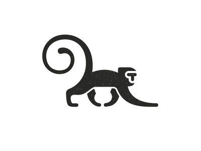 T Monkey 1 texture tail space negative t logo animal monkey