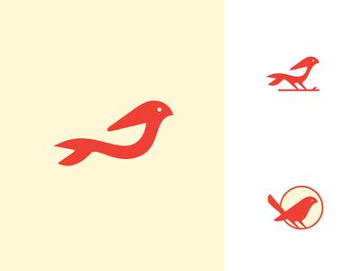 Birdy2 space negative wing sparrow animal icon logo illustration bird