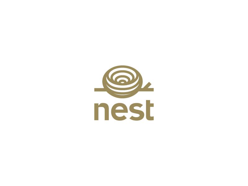 Nest egg nature symbol tree logo bird nest