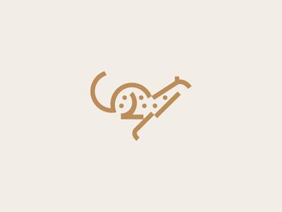 Cheetah leopard africa run dot line logo technology software speed cat animal cheetah