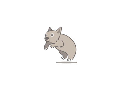 Wombat Cartoony australia cute character cartoon illustration animal wombat