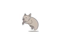 Wombat Cartoony