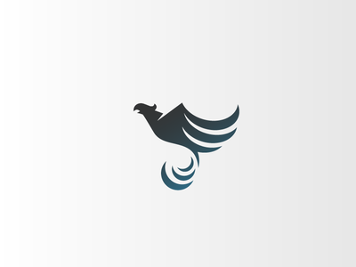 Phoenix 1 wings fire bird icon logo phoenix