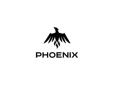 Phoenix wings fire bird icon logo phoenix