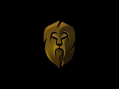 Lion Shield mane animal gradient gold shield lion