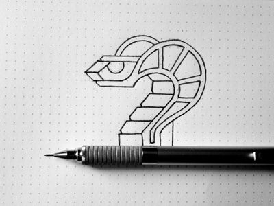 Snake Sketch line bike cobra animal illustration logo moto snake