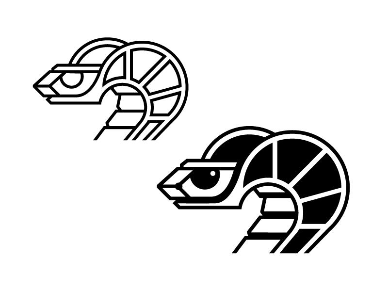 Snakes cobra line animal reptile moto logo snake