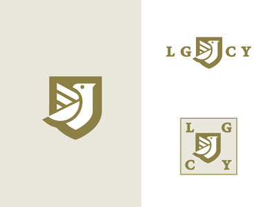 LGCY shield hawk legacy animal bird logo badge crest
