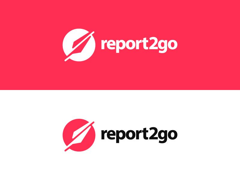 report2go icon info data report circle logo quill