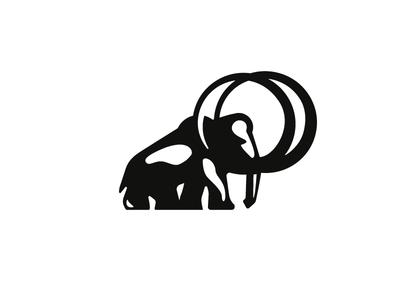 Mammoth prehistoric logo animal tusk elephant mastodon mammoth