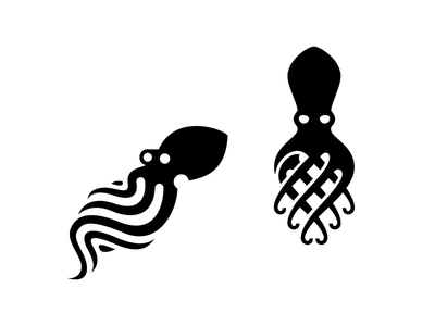 Octopussy deep sea tentacle logo illustration creature octopus