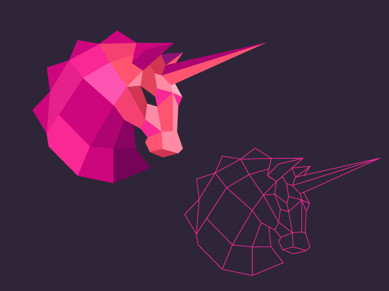 pink unicorn logo