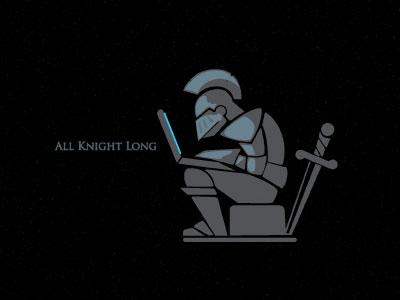 All Knight Long knight night shield war fight game computer pc mac helmet sword gaming new age armour screen illustration steva lap-top