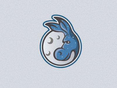 Midnight Donkey midnight night stars donkey animal illustration logo s steva ears blue moon sky globe eye