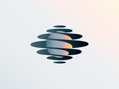 Spiral Planet icon gradient logo planet spiral