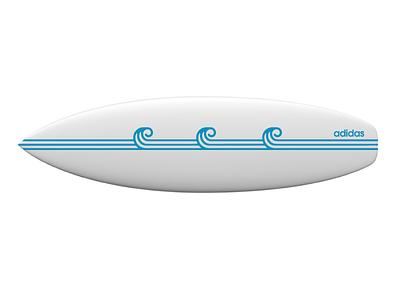 Surf Board logo stripes sport board surf adidas