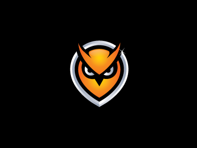 Owl owl animal eye jead body hooty drop scary logo mark shape point s steva frame autumn