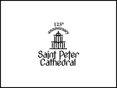 125 .2 line logo cathedral saintpeter