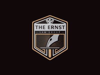 The Ernst law pen pencil court group ernst logo crest judge eagle emblem steva s