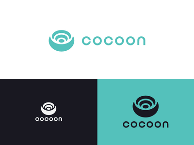 Cocoon love nest family logo app cocoon