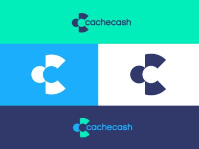 Cachecash negativespace monogram cc logo software