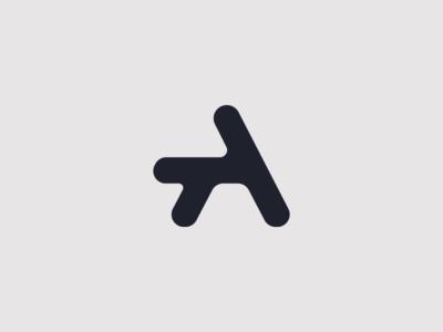 TA black symbol logo letter monogram ta