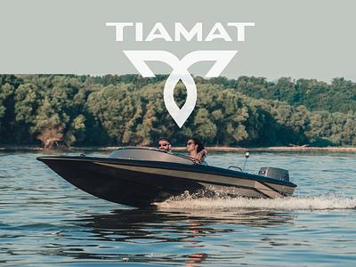 Tiamat Boats branding graphic water speed logo boats tiamat