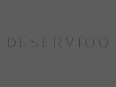 deservioo font text logo texture shadow logotype type