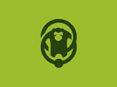Monkey Business monkey business circle earings piercing tattoo shop logo animal jungle