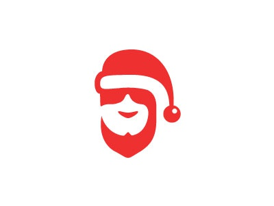 Santa edition santa hat s steva letter logo new year