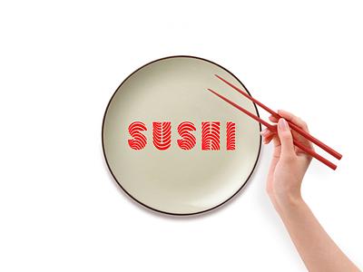 SUSHI logotype logo east japan food sushi
