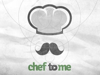 Chef to Me logo branding chef mark startup grid