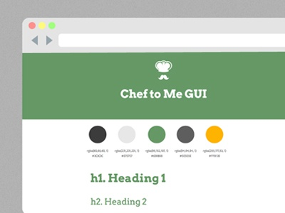 Chef To Me GUI browser startup web mobile-first mobile gui css3 html5
